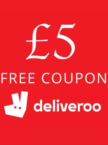 Deliveroo £5 Off First Order Please See Description, Use As Many Times You Want