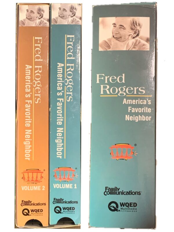 Fred Rogers Americas Favorite Neighbor Vhs 2004 2 Tape Set