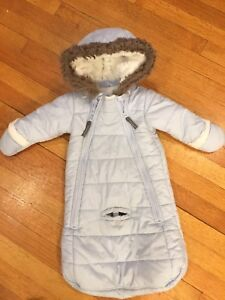 Kushies baby snowsuit- 3-6mth. - like new