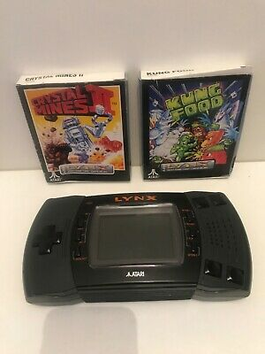 ATARI LYNX II (2) CONSOLE WITH BOXED GAMES BUNDLE CRYSTAL MINES II & KUNG FOOD