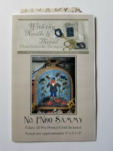 With thy Needle & Thread ~ Punchneedle ~ Sammy Fall Halloween PN190