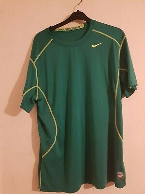 Used, mens green Nike pro combat sports top size M in good condition for sale  Shipping to Nigeria