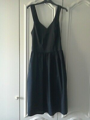 Vintage Laura Ashley 1980s black Summer Dress label size 10
