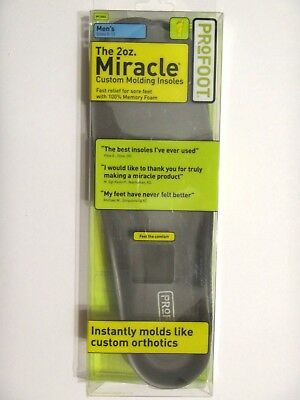 Profoot 2oz Miracle Custom Molding Memory Foam Insoles Men's Size 8-13