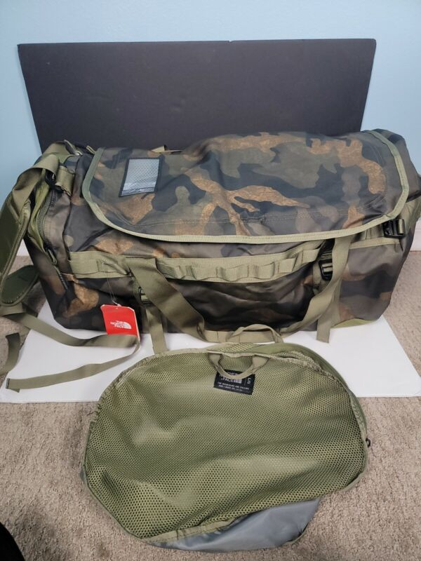 The North Face Basecamp Duffel Packable Travel Suitcase Large Bag 95L Camouflage
