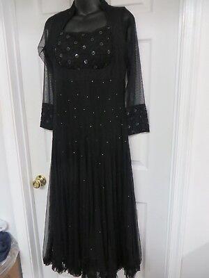 RHYTHM Lace Mesh embellished Long Dance Dress Black Size 2-4 Gorgeous! (Rhythm Lace)