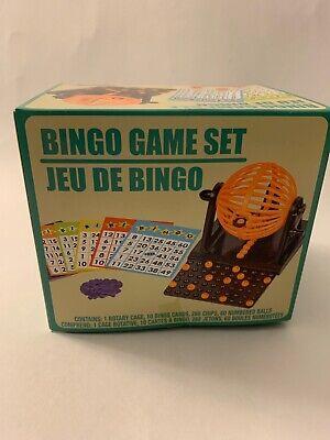 🔥 Mini Bingo Machine Cage Game Set Kit 60 balls 10 numbered 20 Cards markers 👀 Bingo Cage Set
