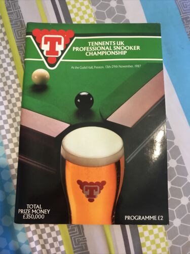 Tennants UK Snooker Championship 1987 Programme