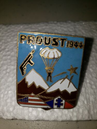 K1068 WW2 French Army Metal Enamel Unit Badge Commandos de France Proust L3B