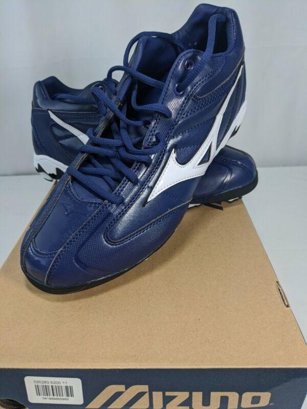 NIB Mizuno 9 Spike Franchise Mid G4 Baseball Shoes Blue Sz. 11 Free Shipping