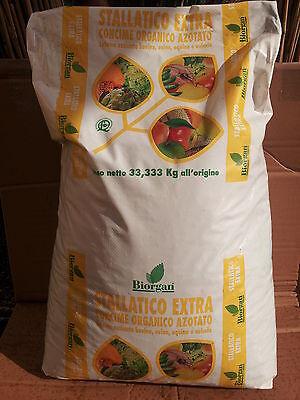 CONCIME STALLATICO EXTRA ( NO AMMENDANTE) ORGANICO AZOTATO BIOLOGICO 33,33 KG