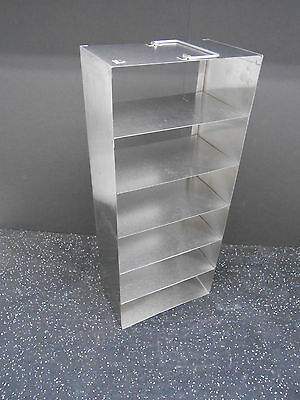 Six Compartment Cryogenic Tank Stainless Steel Storage Rack 21.5 X 5.5 X 9.25