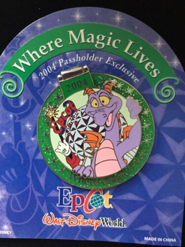 Disney WDW Where the Magic Lives 2004 Figment Annual Passholder Exclusive Pin