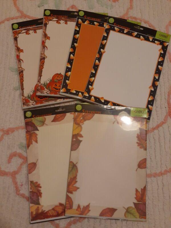 "New Gartner Studio Fall Autumn Halloween Pumpkin Holiday Stationary 8.5x11"" Lot"