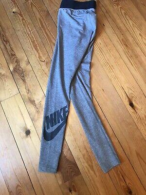 Nike Grey Ankle Logo women's sports Running Yoga leggings size Small