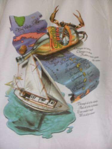 Jimmy Buffet CHANGES IN LATITUDES St. Barth 2000 Pirate T-Shirt Large