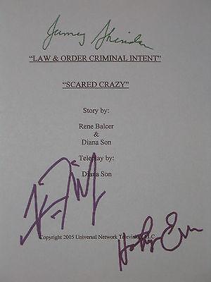 Law and Order: Criminal Intent Signed TV Script X3 CI Vincent D' Onofrio reprint