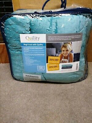 """Adult Weighted Blanket & Removable Cover 15 lbs 60""""x 80"""" Tide Quility Premium"""