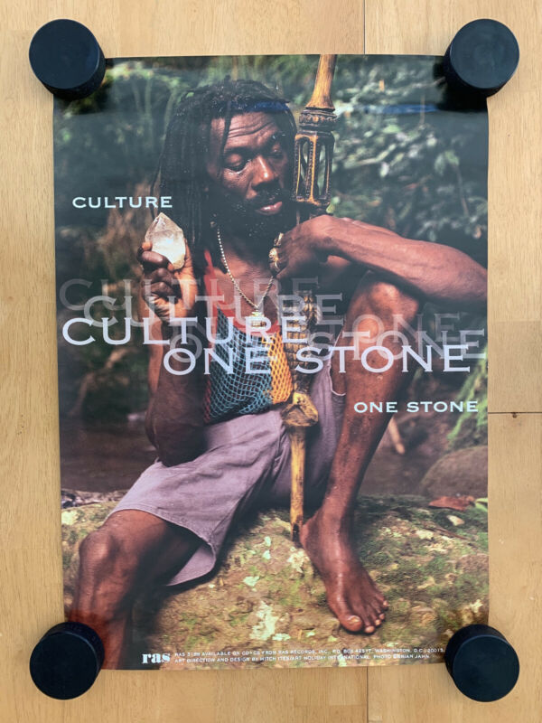 Culture - One Stone 19x27 Promotional Poster RAS Records Joseph Hill