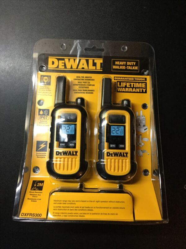 DeWALT DXFRS300 Heavy Duty 2 Way Radio Walkie Talkie 22 Channels Work Radios