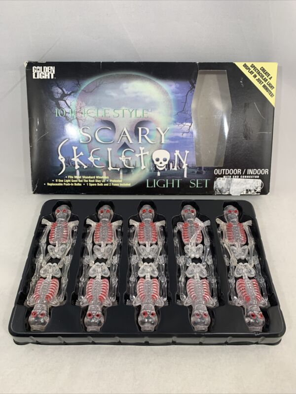 Vintage Halloween Skeletons Replacements For String Lights 10x