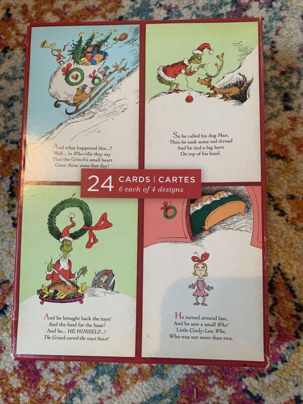 hallmark dr seuss christmas cards-20 cards/envelopes