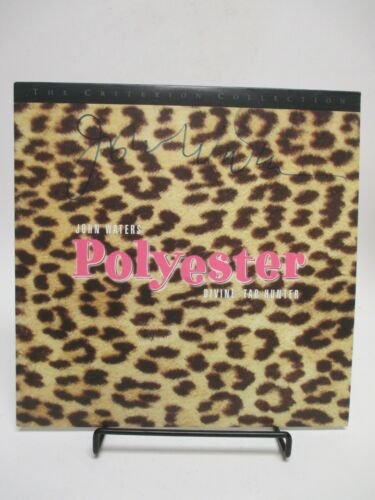 """SIGNED by JOHN WATERS! """"Polyester"""" LASERDISC 1993 Janus Criterion Laser Disc"""