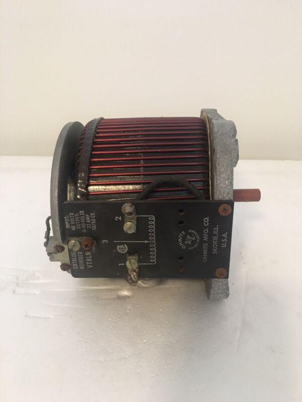 Ohmite VT8LN Variac Variable Transformer 40 Volt 22 Amp