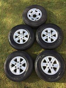 Genuine 2013 SR5 Toyota Hilux Rims and Tyres + Spare Fairfield Brisbane South West Preview
