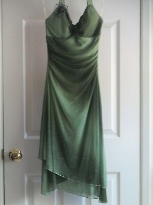 Ruby Rox Women's Shades of Green Sparkly Party Dress, Size Small box(P) - Green Party Box