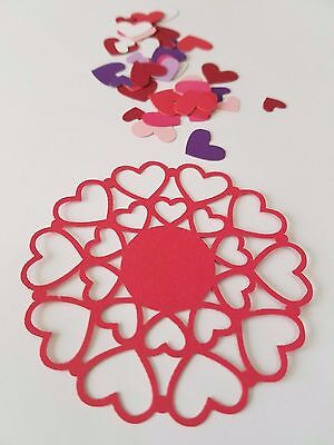 Valentines Day Doily Style Heart Die Cut Outs ( Gift Tags, Scrap Booking, etc)