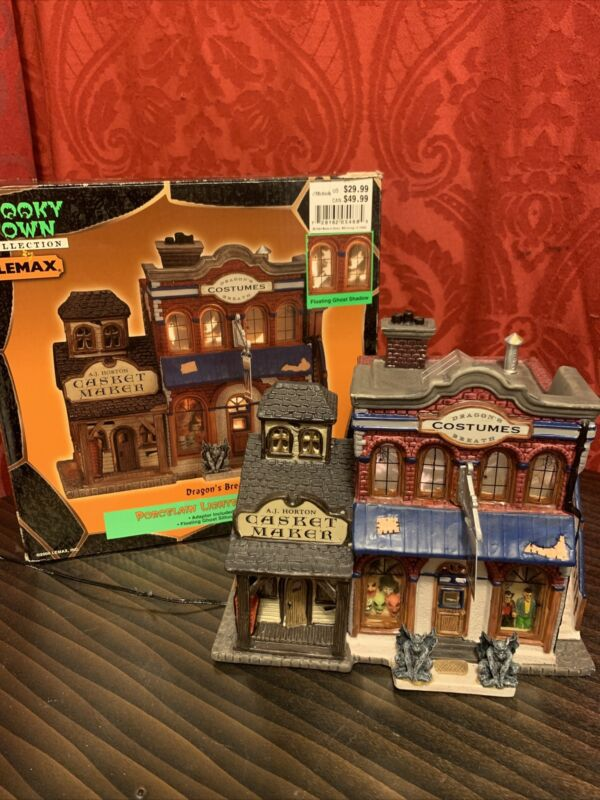 2000 SPOOKY TOWN Halloween Village DRAGONS BREATH COSTUMES Floating Ghosts LEMAX