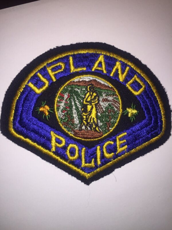 Old Felt Upland California Police Patch