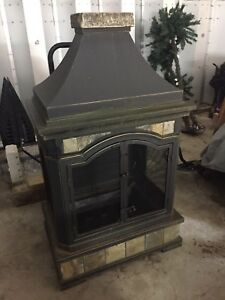 New large outdoor fireplace for sale