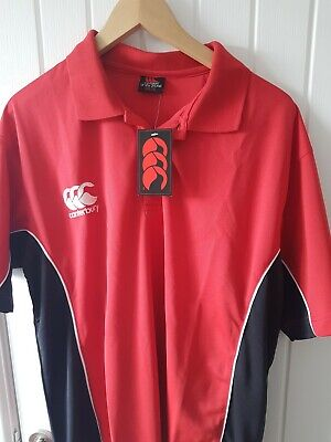 Canterbury Of New Zealand Rugby Polo Shirt New Size Extra Large 2XL