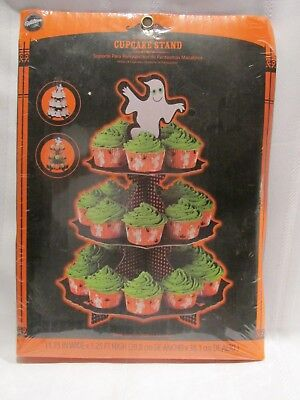NEW Wilton Cupcake Stand - Ghoulish Ghost - Holds 24 Cupcakes - - Ghoulish Halloween Cupcakes