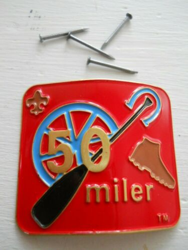 BOY SCOUTS OF AMERICA 50 MILER HIKING STAFF MEDALLION #14131 (NEW IN PACK)