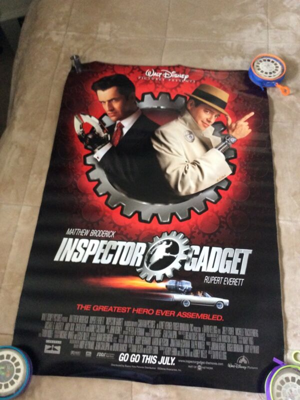 Inspector Gadget Movie Poster Double Sided Store Promo