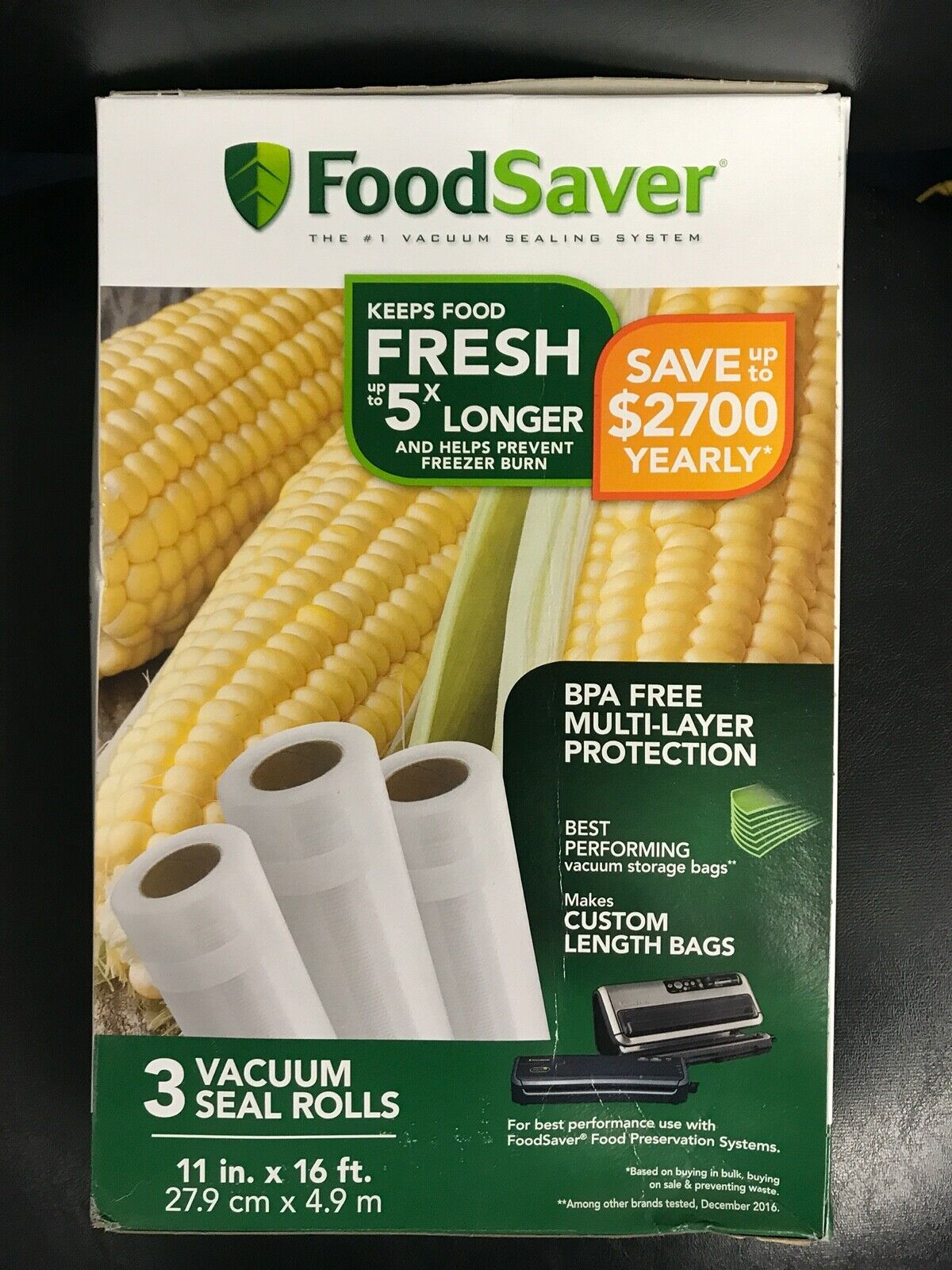 "FoodSaver 11"" Heat-Seal Roll, 3pk"