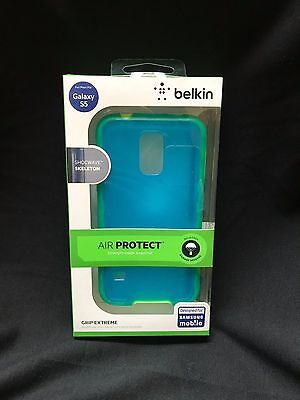 BELKIN AIR PROTECT GRIP BUMPER FOR SAMSUNG GALAXY S5 - Blue Jade