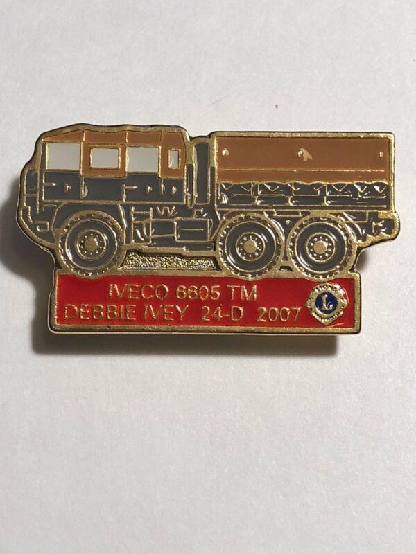 2007 Debbie Ivey 24-D Iveco 6605 TM Military Truck Lions Club Pin