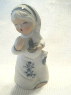 1980 Jasco Royal Majestic Bell GIRL WITH CANDLE AND PUPPY  Bisque
