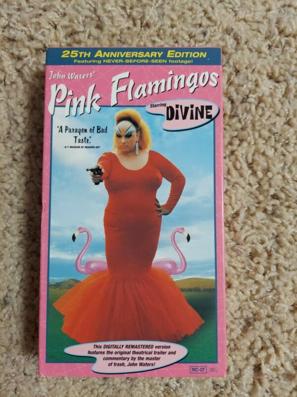 RARE Pink Flamingos VHS Divine, Mink Stole, John Waters New Line Home VIdeo