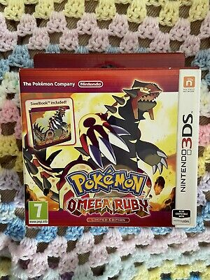 Limited Edition- Pokemon Omega Ruby Game With Steel Case! Collectors Book