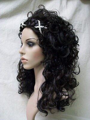 Grecian Goddess Wig Braided Headband Medieval Renaissance Athenian Greek Roman - Renaissance Goddess