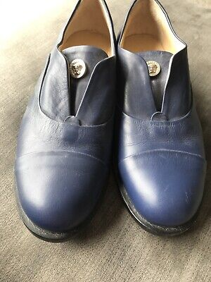 Boys Euro Size 34 Young Versace Blue Shoes
