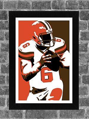 Baker Portrait - Cleveland Browns Baker Mayfield Portrait Sports Print Art 11x17