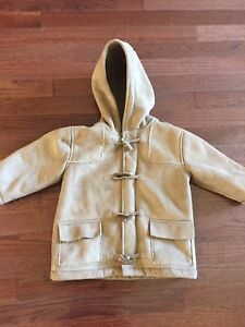 Boys size 3T faux suede toggle jacket