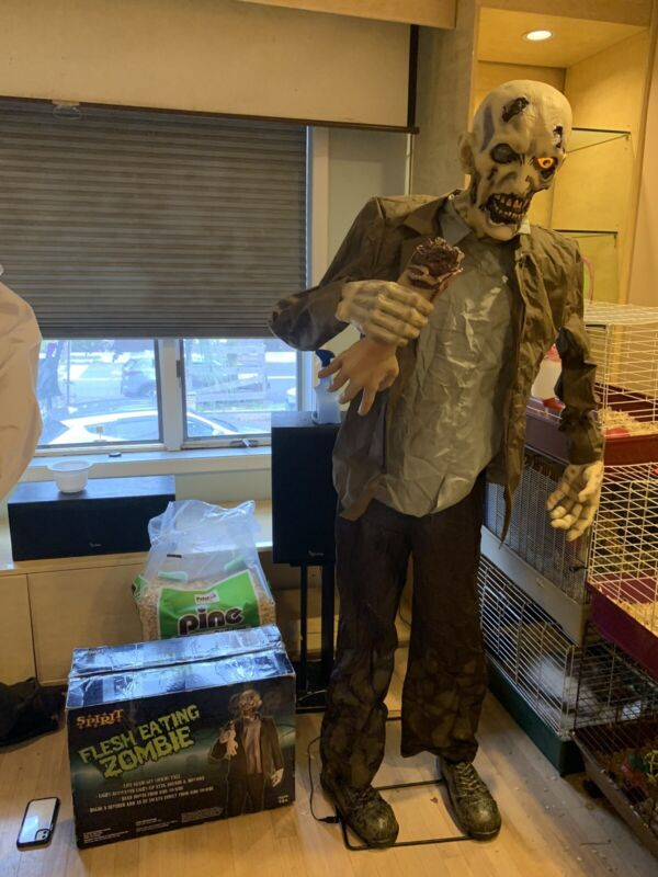 Rare Spirit Halloween 2011 Flesh Eating Zombie Tested Working See video Preowned