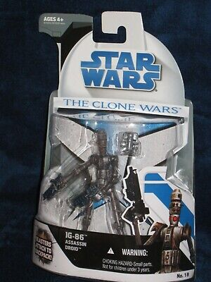 Star Wars 2008 The Clone Wars IG-86 Assassin Droid No. 18